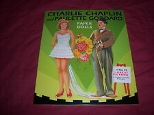 hollywood CHARLIE CHAPLIN & PAULETTE GODDARD paper dolls book--BRAND NEW reprint