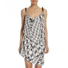 Urbancode Black/White Kryptonite Leather Strap Silk Dress Size 8 Box44 14 J