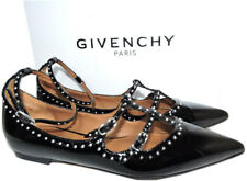 Givenchy Black Leather Piper Stud-Embellished Flats Ballerina Shoe Ballets 40
