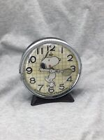 Vintage Snoopy Windup Tennis Clock By Equity Not Working