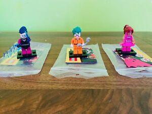 Lego The  Batman Movie 71017 Minifigures Series 1 Joker Batgirl Mime 2017  Used
