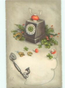 foreign Old Postcard ANTIQUE FANTASY TELEPHONE WITH MUSHROOMS AC2364