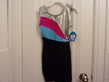 New listing NWT Moret Active Girl Black & Color Tank Biketard Size 12-14 Dance Gymnastics