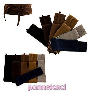 belt sash OBI belt eco-leather suede Gürtel belt FSC-01