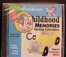 Childhood Memories Vol 2 CB Alphabet Machine Embroidery
