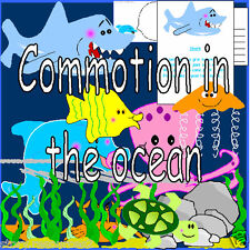 COMMOTION IN THE OCEAN Primary teaching story resource 4 sack EYFS KS1 resources