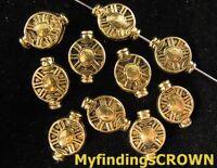 100 pcs Antiqued gold floral decorative bail FC1481
