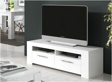 Cubo Soft Gloss White TV Unit, LCD Plasma stand, TV Cabinet
