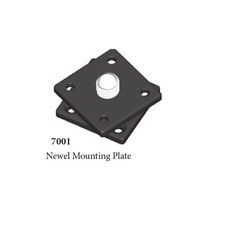 Box Newel Post Mounting Plate Stair Rail Parts Supplies Metal Hardware