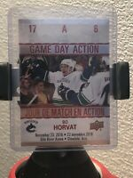 17-18 Upper Deck Tim Hortons Game Day Action #GDA-6 BO HORVAT FREE SHIPPING