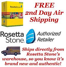 Rosetta Stone English1 2 3 4 5 Homeschool ~Headset~Audio CDs~Printable Workbooks