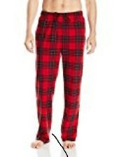 Nautica Cozy Fleece Red Black Plaid Pajamas Lounge Pants  Lrg NWT