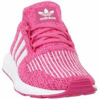 adidas Swift Run Lace Up    Kids Girls  Sneakers Shoes Casual   - Pink