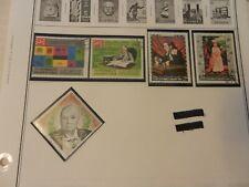 Lot of 5 Yemen Stamps, Churchill, Roosevelt, Art