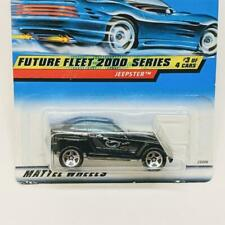 2000 Hot Wheels Future Fleet 2000 Series 3/4 Jeep Jeepster Black #003 5sp Sealed