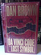The Da Vinci Code & The Lost Symbol by Dan Brown - leather bound - New