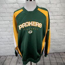 Reebok Green Bay Packers NFL Team Pullover Sweatshirt Crew Neck Size Large
