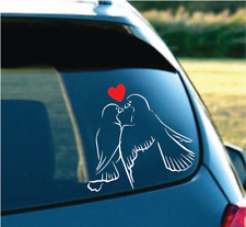 "Decor love birds for car truck SUV White/Red 6"""