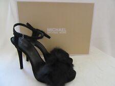 MICHAEL KORS 40F6FEHA1S Faye Suede Pump Sandal Strap On Shoes Heels US 8.5 M NWB