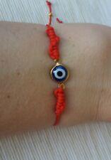 Pulsera roja ajustable ojito suerte mal de ojo