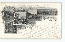 Earliest 1901 2c Pioneer PMC / Greetings from Hawaii Series w UDB~ Postcard -H4