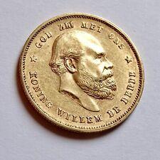 Netherland 10 GULDEN 1877 GOLD COIN