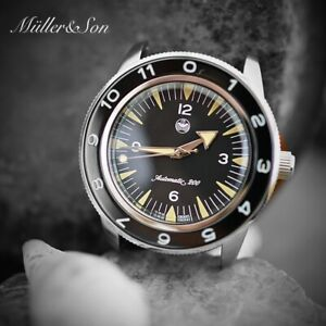 """Müller&Son """"Seamaster 300 Spectre"""" Watch Mod made from Seiko SNZH+Military Strap"""