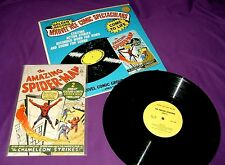 Vintage 1966 Marvel Comics Spider-Man Golden Record Set with First Issue Repro
