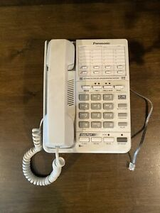 Used Panasonic KX-TS208 White Speakerphone Home Or Business 2-Line Corded Phone
