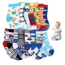 Baby Toddler ABS Anti Non Slip Half Terry Cotton Socks 14 pairs 6months-3Years