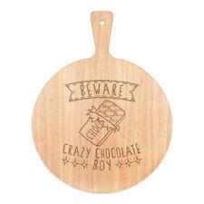 Vorsicht Crazy Schokolade Boy Pizza Board Paddel Holz Witz Kinder