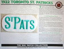 Willabee Ward ~ Nhl Throwback Hockey Patch Info Card ~ 1922 Toronto St Patricks