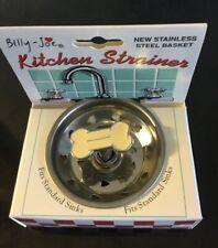 "Billy-Joe ""DOG BONE""  Kitchen Sink Strainer/stopper stainless steel Basket"