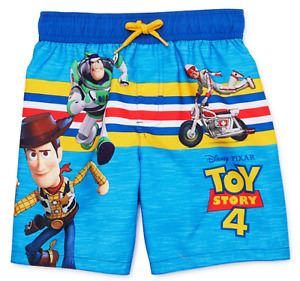 TOY STORY 4 WOODY & BUZZ UPF50+ Bathing Suit Swim Trunks Toddler's Size 3T 4T 5T