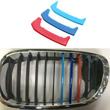 M Color Grille Grill Cover Clip Trim For BMW 3-Series E46 Coupe 2 Door 2003-2006