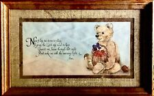 "Vintage ""Now I Lay Me Down To Sleep""-—Teddy Bear Framed/Matted Print 16�x10�"