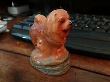 """Mini E. Oakes Ceramic Chow w/Pups Figurine 2.5"""""""