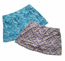 LOT 2 Smash Gal Women Tennis Golf Sport Skirt Skort Geometric Print Size Xl