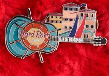 Hard Rock Cafe Pin LISBON Sail BOAT Wheel Guitar Port facade building boat sail