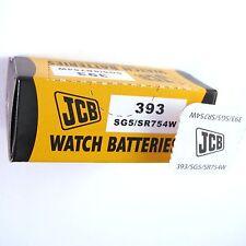 5 x JCB 393 Silver Oxide 1.55V Watch Battery  SR754W SG5