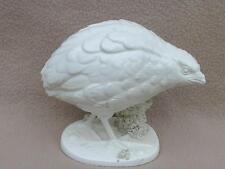 CONTINENTAL ITALIANO Ceramica del Ferlaro IN CERAMICA STATUINA Bird Quaglia Blanc Chine