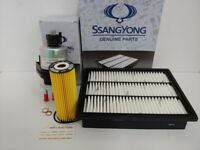 GENUINE NEW SSANGYONG ACTYON 2.3L PETROL FILTER PACK (OIL+AIR+FUEL FILTER)