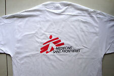 T-shirt white 100% cotton size large doctor's without borders logo in french