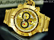 Invicta 50mm Subaqua Noma III Swiss Chronograph Gold Dial 18K Gold Plated Watch
