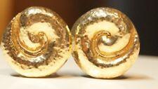 James Avery *RETIRED* Hammered Swirl Earrings 14k
