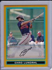 Chad Lundahl 2009 Bowman Chrome Gold Refractor #'d /50 Atlanta Braves Prospect