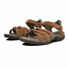 Teva Womens Tirra Leather Walking Shoes Sandals Brown Grey Sports Outdoors