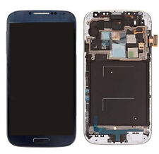 FIT For Samsung Galaxy S4 SGH-I545 R970 SPH-L720 LCD Touch Screen BLUE + Frame