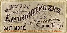 Encadrée 19th siècle publicité imprimé – gravure chromo imprimantes (art)
