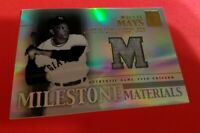 Willie Mays GAME USED JERSEY CARD 2002 TOPPS TRIBUTE MILESTONE MATERIALS 500 HR